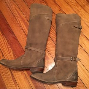 Frye Shoes - Dorado Frye tall riding boots 6.5 in Taupe Suede